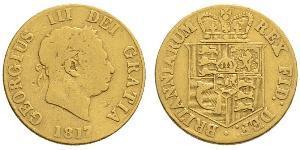 1/2 Sovereign 大不列颠及爱尔兰联合王国 (1801 - 1922) 金 喬治三世 (1738-1820)