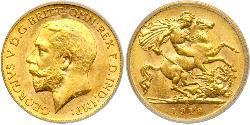 1/2 Sovereign 澳大利亚 金 乔治五世  (1865-1936)