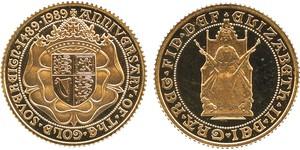1/2 Sovereign United Kingdom (1922-) 金 伊丽莎白二世 (1926-)
