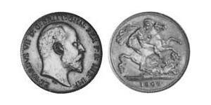 1/2 Sovereign Australia (1788 - 1939) Gold Edward VII (1841-1910)