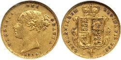 1/2 Sovereign Australien (1788 - 1939) Gold Victoria (1819 - 1901)