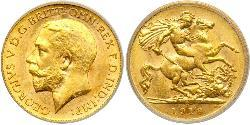 1/2 Sovereign Australien (1788 - 1939) Gold George V (1865-1936)