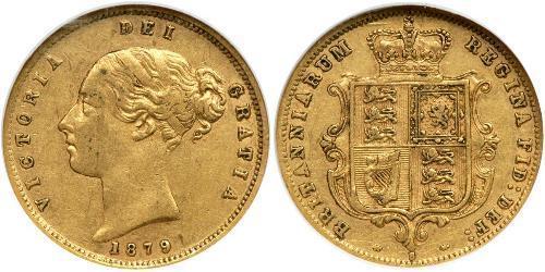 1/2 Sovereign Australien (1788 - 1939) Gold Victoria (1819 - 1901)