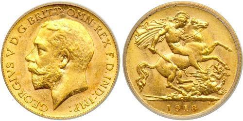1/2 Sovereign Australien (1788 - 1939) Gold George V (1865-1936)
