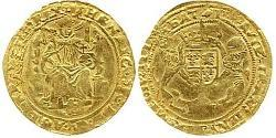 1/2 Sovereign Kingdom of England (927-1649,1660-1707) Gold Henry VIII (1491 - 1547)