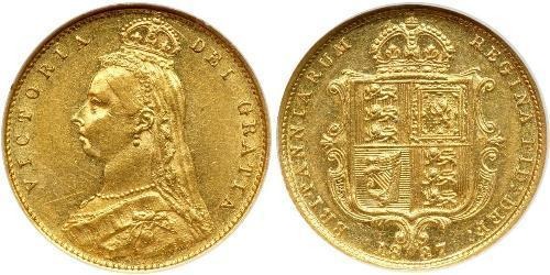 1/2 Sovereign United Kingdom Gold Victoria (1819 - 1901)