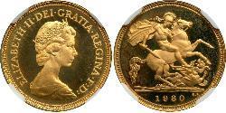 1/2 Sovereign United Kingdom (1922-) Gold Elizabeth II (1926-)