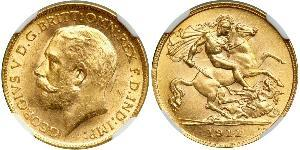 1/2 Sovereign United Kingdom of Great Britain and Ireland (1801-1922) Gold George V of the United Kingdom (1865-1936)