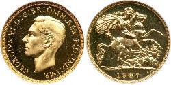 1/2 Sovereign Vereinigtes Königreich (1922-) Gold Georg VI (1895-1952)