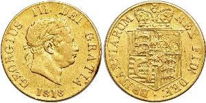 1/2 Sovereign Vereinigtes Königreich von Großbritannien und Irland (1801-1922) Gold Georg III (1738-1820)