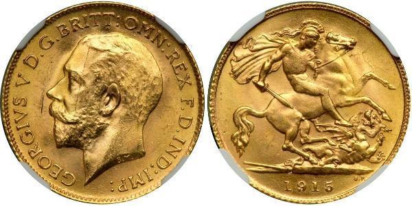 1/2 Sovereign Vereinigtes Königreich von Großbritannien und Irland (1801-1922) Gold George V (1865-1936)