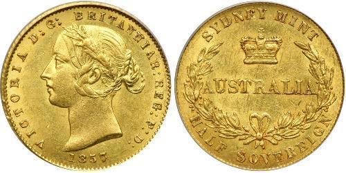1/2 Sovereign Ôstralie (1788 - 1939) Or Victoria (1819 - 1901)
