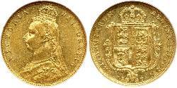 1/2 Sovereign Royaume-Uni Or Victoria (1819 - 1901)