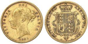 1/2 Sovereign Australia (1788 - 1939) Oro Vittoria (1819 - 1901)
