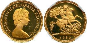 1/2 Sovereign Regno Unito (1922-) Oro Elisabetta II (1926-)