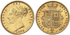 1/2 Sovereign Regno Unito di Gran Bretagna e Irlanda (1801-1922) Oro Vittoria (1819 - 1901)