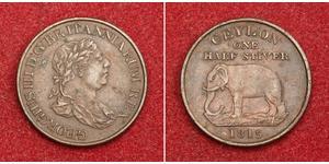 1/2 Stiver Sri Lanka/Ceylon / United Kingdom of Great Britain and Ireland (1801-1922) Copper George III (1738-1820)