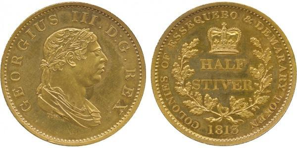 1/2 Stiver United Kingdom of Great Britain and Ireland (1801-1922) Copper George III (1738-1820)