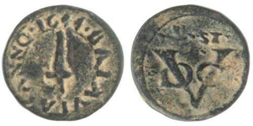 1/2 Stiver Repubblica delle Sette Province Unite (1581 - 1795) Rame