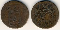 1/2 Tanga Portuguese India (1510-1961) Copper