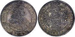 1/2 Thaler 匈牙利王国 銀 利奥波德一世 (神圣罗马帝国)(1640-1705)