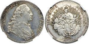 1/2 Thaler Electorate of Bavaria (1623 - 1806) 銀 Maximilian III Joseph, Elector of Bavaria (1727 – 1777)