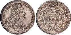 1/2 Thaler Saint-Empire romain germanique (962-1806) Argent Charles VI du Saint-Empire (1685-1740)