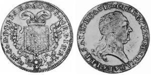 1/2 Thaler Elettorato di Baviera (1623 - 1806) Argento