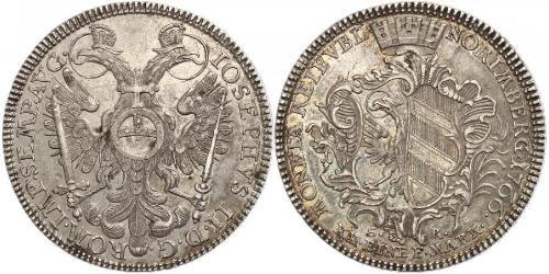 1/2 Thaler Free Imperial City of Nuremberg (1219 - 1806) Argento