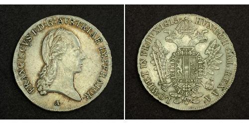 1/2 Thaler Impero austriaco (1804-1867) Argento Francis II, Holy Roman Emperor (1768 - 1835)