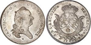 1/2 Thaler Electorate of Bavaria (1623 - 1806) Plata Carlos Teodoro del Palatinado y Baviera (1724 - 1799)