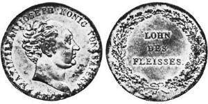 1/2 Thaler Reino de Baviera (1806 - 1918) Plata