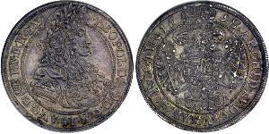 1/2 Thaler Reino de Hungría (1000-1918) Plata Leopoldo I de Habsburgo(1640-1705)