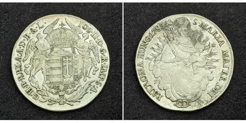 1/2 Thaler Reino de Hungría (1000-1918) Plata Maria Theresa of Austria (1717 - 1780)