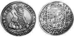 1/2 Thaler Elsass Silber Ferdinand II. (Tirol) (1529 – 1595)