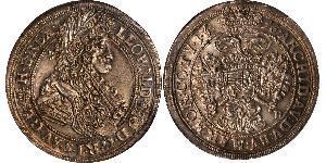 1/2 Thaler Königreich Ungarn (1000-1918) Silber Leopold I. (HRR)(1640-1705)