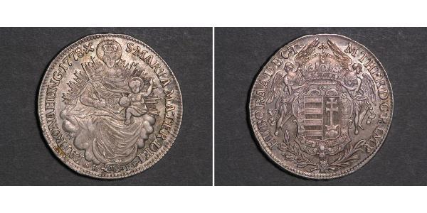 1/2 Thaler Königreich Ungarn (1000-1918) Silber Maria Theresa of Austria (1717 - 1780)