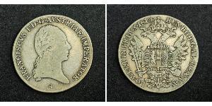 1/2 Thaler Kaisertum Österreich (1804-1867) Silber Francis II, Holy Roman Emperor (1768 - 1835)