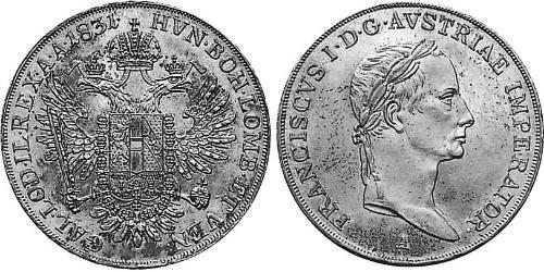 1/2 Thaler Kaisertum Österreich (1804-1867) Silber