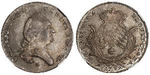 1/2 Thaler Electorate of Bavaria (1623 - 1806) Silver Charles Theodore, Elector of Bavaria (1724 - 1799)