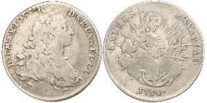 1/2 Thaler Electorate of Bavaria (1623 - 1806) Silver Maximilian III Joseph, Elector of Bavaria (1727 – 1777)