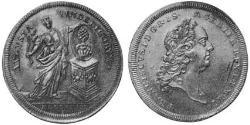 1/2 Thaler Imperial City of Augsburg (1276 - 1803) Silver Francis I, Holy Roman Emperor (1708-1765)