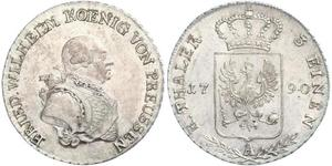 1/3 Талер Пруссия (королевство) (1701-1918) Серебро Фридрих Вильгельм II