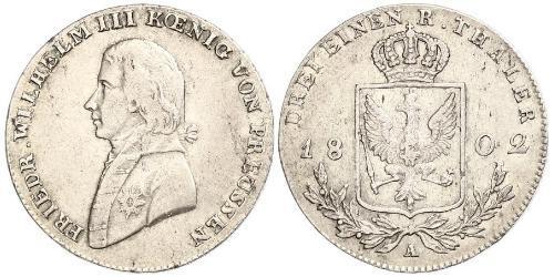 1/3 Талер Пруссия (королевство) (1701-1918) Серебро Фридрих Вильгельм III, король Пруссии (1770 -1840)