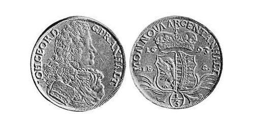 1/3 Талер Ангальт-Дессау (1603 -1863) Срібло John George II, Prince of Anhalt-Dessau (1627 – 1693)