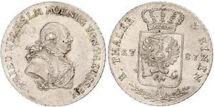 1/3 Талер Королівство Пруссія (1701-1918) Срібло Фрідріх-Вільгельм II