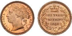 1/3 Farthing Reino Unido de Gran Bretaña e Irlanda (1801-1922) Bronce Victoria (1819 - 1901)
