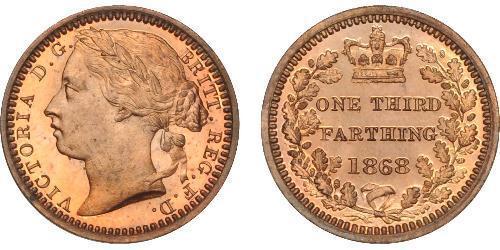 1/3 Farthing Regno Unito di Gran Bretagna e Irlanda (1801-1922) Bronzo Vittoria (1819 - 1901)