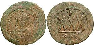 1/3 Follis Byzantine Empire (330-1453) Bronze Tiberius II (535-582)