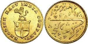 1/3 Mohur Compagnia Inglese delle Indie Orientali (1757-1858) Oro